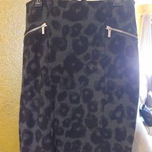 Banana Republic Leopard Print Pencil Skirt
